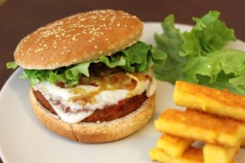 Hamburger-végétarien-maison